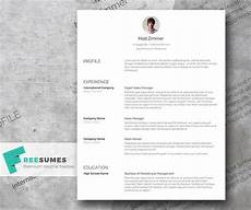 and a clean resume template freebie freesumes