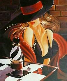 peinture femme moderne peinture femme moderne chapeau