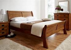 Wooden Sleigh Bed Bedroom Ideas by Fabulous Sleigh Bed In Lovely Wood Decoist