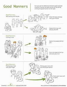 manners worksheet education com