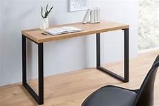 inneneinrichtung bueromoebel design schwarz design schreibtisch oak desk 120cm eiche vintage