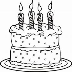 Malvorlagen Cake Birthday Cake Coloring Pages Getcoloringpages