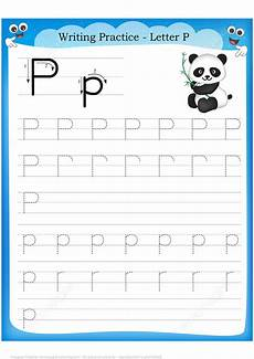 letter p is for panda handwriting practice worksheet free printable puzzle games
