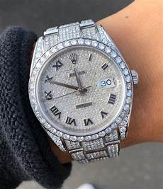 rolex datejust 41mm iced out ref 126300 new