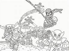 marvel squad az coloring pages coloring home