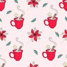 christmas mug merry christmas seamless pattern color vector illustration for digital print