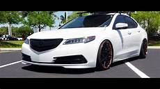 2015 white acura tlx on rotiform qlb wheels youtube