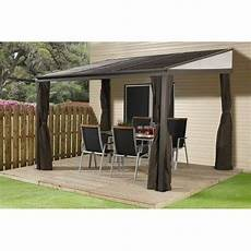 gazebo wall outdoor hardtop gazebo large 12x10 patio canopy deck porch