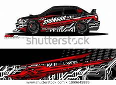 Rally Car Wrap Vector Designs Abstract De Stock