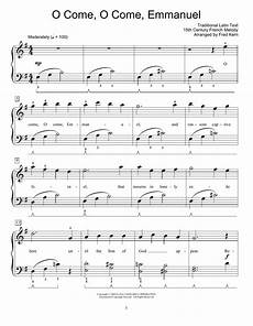 o come o come emmanuel sheet music by traditional easy piano 71197