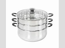 CONCORD Stainless Steel 3 Tier Steamer Steam Pot Cookware