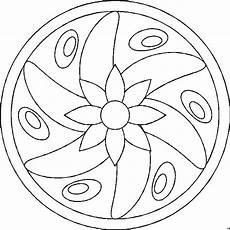mandala blume mittig ausmalbild malvorlage mandalas