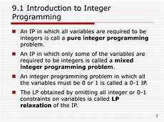 ppt chapter 9 integer programming powerpoint presentation free download id 328480