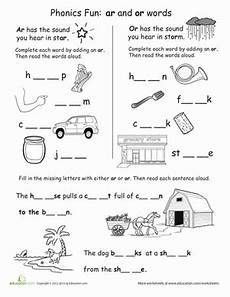 phonics fun ar and or words projects to try phonics worksheets phonics lessons phonics