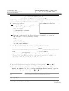 form eoir 29 download fillable pdf notice of appeal to