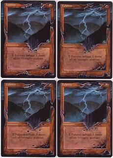 4x lightning bolt altered mtg by eddy pochy
