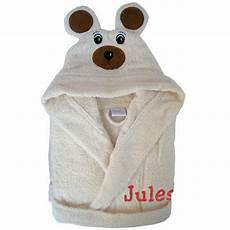 peignoir personnalisé bébé peignoir personnalis 233 ours avec pr 233 nom b 233 b 233 amikado