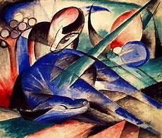 Kubismus Berühmte Bilder - franz marc tr 228 umendes pferd 1913 franz marc blauer