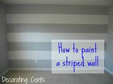 Painting A Striped Wall