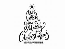we wish you a merry christmas vector christmas tree by baba donal dribbble
