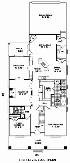 house plans for long narrow lots narrow lot style house plan 46858 with 3 bed 3 bath 2