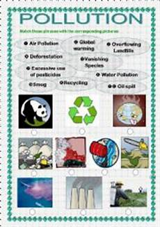 english teaching worksheets pollution