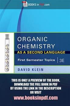 organic chemistry as a second language pdf 3e free