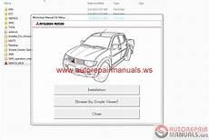 mitsubishi l200 2013 workshop manual auto repair manual heavy equipment