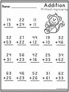 addition without regrouping grade 1 2 digit addition without regrouping worksheets by learning
