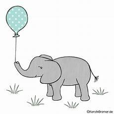elefant mit luftballon doodle stickdatei kerstinbremer de