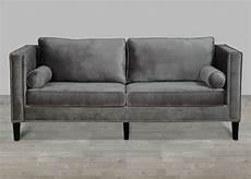 Sofa Samt Grau - grey velvet sofa with nailheads