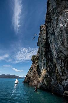 cliff diving chions explore patagonia outdooruae