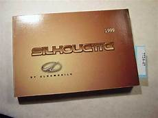 free car manuals to download 1999 oldsmobile silhouette user handbook 1999 oldsmobile silhouette owners manual in good condition 7724 47 ebay