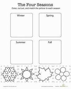 season worksheets for kindergarten 14894 match the four seasons seasons worksheets seasons lessons preschool weather