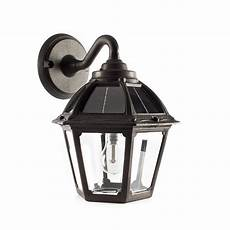 gama sonic polaris 1 light black solar led outdoor wall sconce with gs warm white bulb