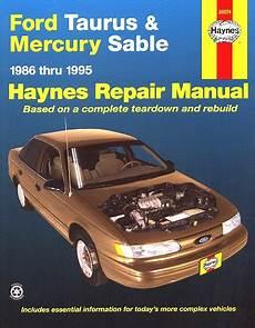 manual repair free 1994 ford taurus regenerative braking ford taurus mercury sable repair manual 1986 1995 haynes