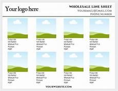 do i need a wholesale line sheet get a free canva