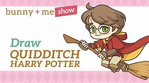 Harry Potter Quidditch Drawing Tutorial  How To Draw