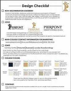 design checklist pierpont c tc