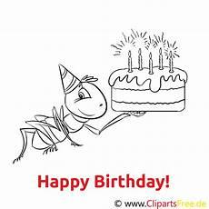 Gratis Malvorlagen Happy Birthday Ameise Kuchen Ausmalbild Gratis