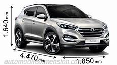 dimension hyundai ix35 compact suv comparison with dimensions and boot capacity