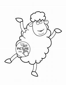 sheep animals coloring pages for