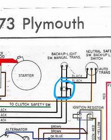 mopar neutral safety switch wiring diagram neutral safety switch harness question specific to 1974 for a bodies only mopar