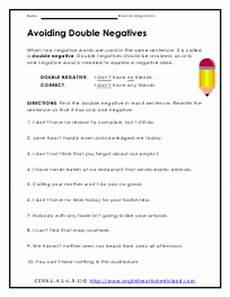 double negative worksheets