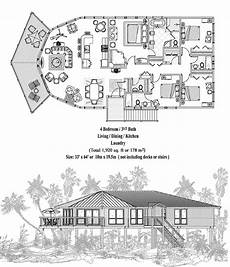 stilt house floor plans piling collection pge 0301 1920 sq ft 4 bedrooms 3 1