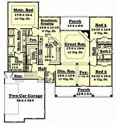 house plans 2400 square feet colonial style house plan 3 beds 2 50 baths 2400 sq ft