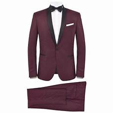 Vidaxl 2x De Soir 233 E Homme Bordeaux Costume Tuxedo