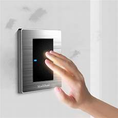 1 1 way luxury led light switch push button wall switches 10a ac 110 250v in switches from