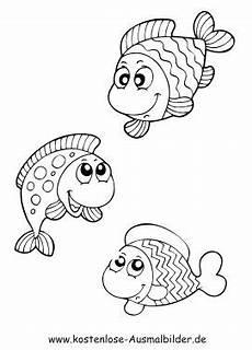 malvorlage fisch a4