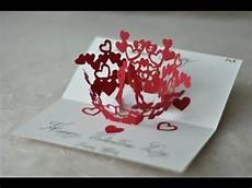 pop up card template s day pop up valentines day card original